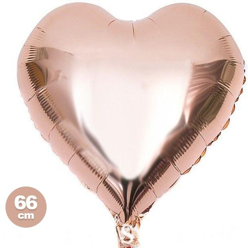 Rose Gold Kalp Folyo Balon (66 cm)