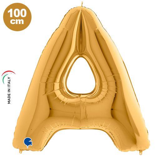 A - Harf Folyo Balon Gold (100 cm)