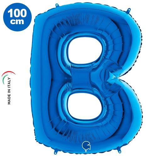 |B| Harf Folyo Balon Mavi (100 cm)