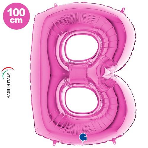 B Harf Folyo Balon Pembe (100 cm)