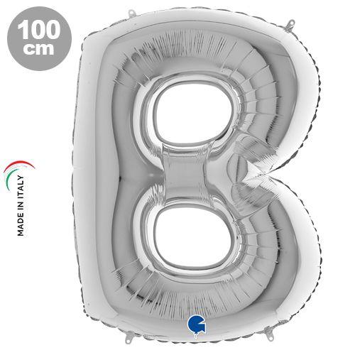 B - Harf Folyo Balon Gümüş (100 cm)