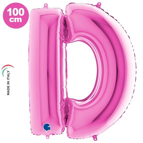 D - Harf Folyo Balon Pembe (100 cm), fiyatı