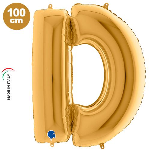 D - Harf Folyo Balon Gold (100 cm)