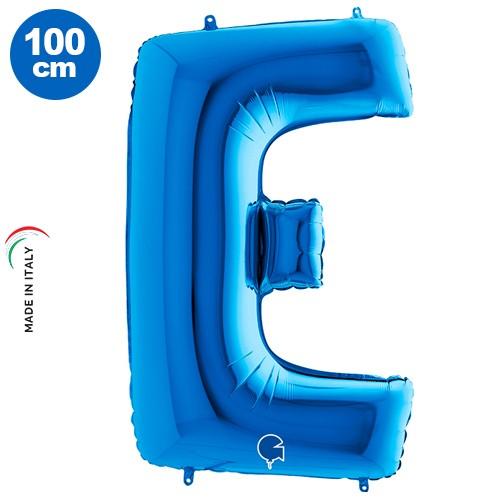 E - Harf Folyo Balon Mavi (100 cm), fiyatı