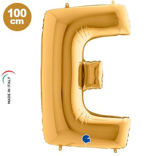 E - Harf Folyo Balon Gold (100 cm)