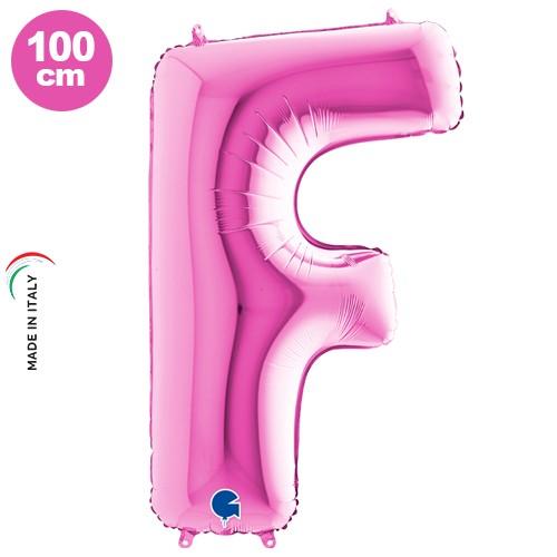 F - Harf Folyo Balon Pembe (100 cm)