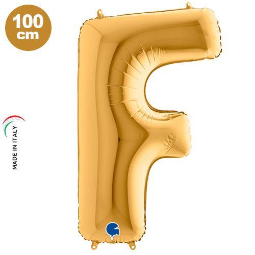 F - Harf Folyo Balon Gold (100 cm)
