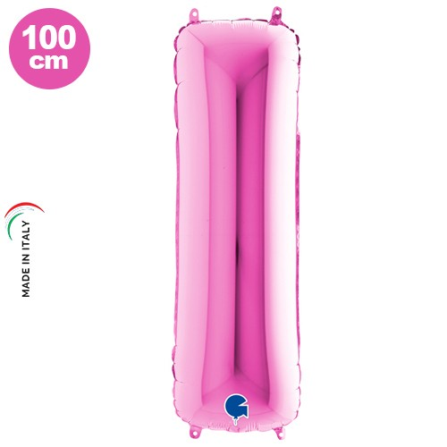 I - Harf Folyo Balon Pembe (100 cm)