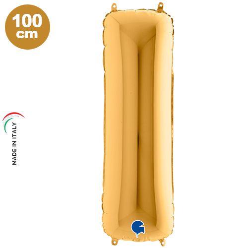 I - Harf Folyo Balon Gold (100 cm)