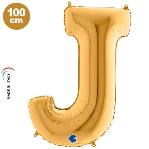 J - Harf Folyo Balon Gold (100 cm)