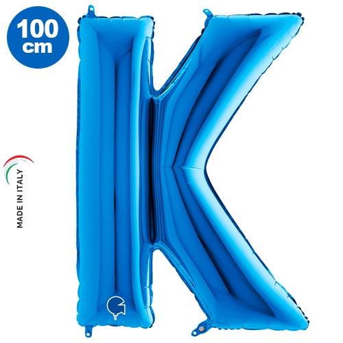 K - Harf Folyo Balon Mavi (100 cm), fiyatı