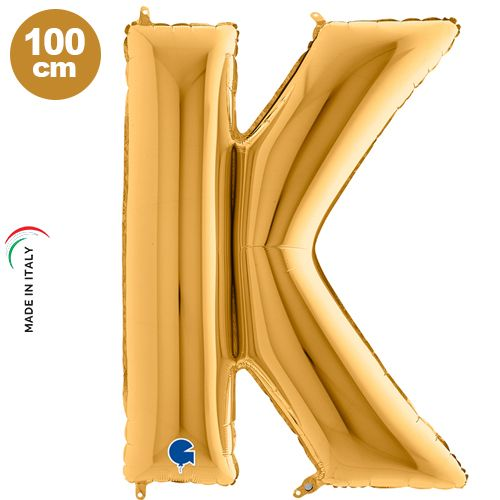 K - Harf Folyo Balon Gold (100 cm)
