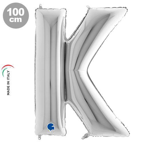 K - Harf Folyo Balon Gümüş (100 cm)