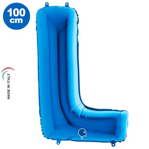 L - Harf Folyo Balon Mavi (100 cm)