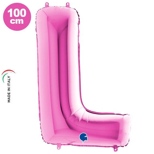 L - Harf Folyo Balon Pembe (100 cm)