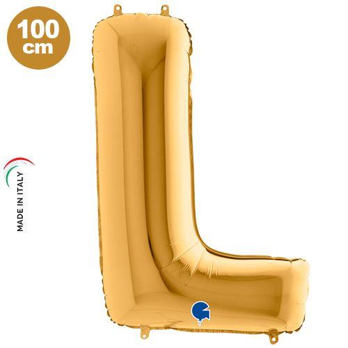 L - Harf Folyo Balon Gold (100 cm)