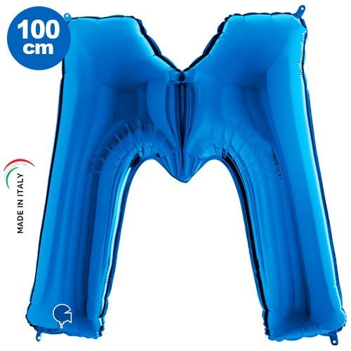 M - Harf Folyo Balon Mavi (100 cm)