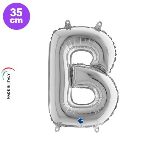 B - Harf Folyo Balon Gümüş (35 cm)