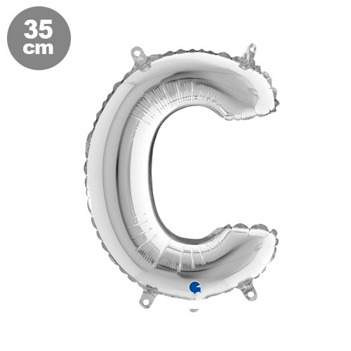 |C| Harf Folyo Balon Gümüş (35 cm)