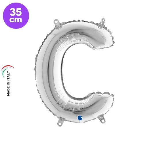 C - Harf Folyo Balon Gümüş (35 cm)