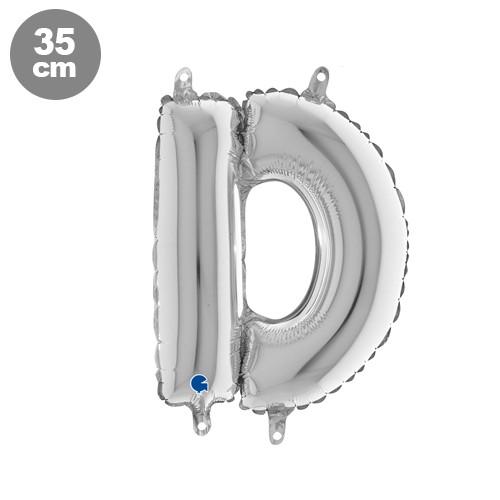 |D| Harf Folyo Balon Gümüş (35 cm)