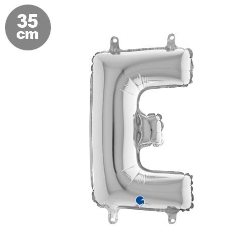 |E| Harf Folyo Balon Gümüş (35 cm)