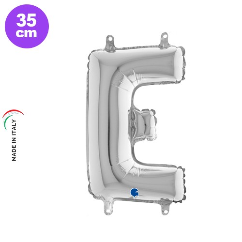 E - Harf Folyo Balon Gümüş (35 cm)