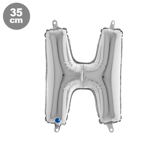 |H| Harf Folyo Balon Gümüş (35 cm)