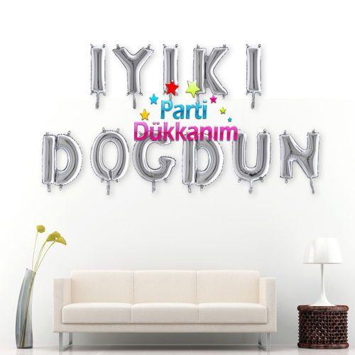 İyiki Doğdun Folyo Balon Gümüş (35 cm)