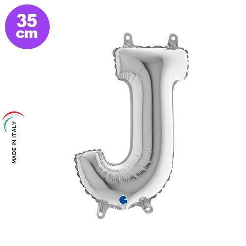 J - Harf Folyo Balon Gümüş (35 cm), fiyatı