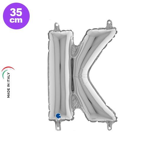 K - Harf Folyo Balon Gümüş (35 cm)