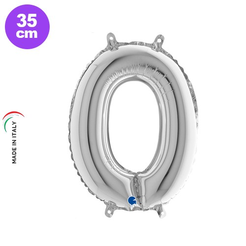 O - Harf Folyo Balon Gümüş (35 cm)