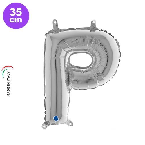 P - Harf Folyo Balon Gümüş (35 cm), fiyatı