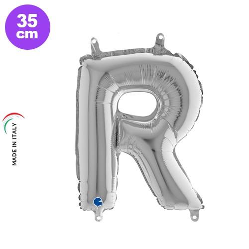 R - Harf Folyo Balon Gümüş (35 cm)