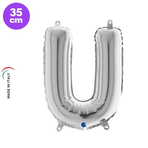 U - Harf Folyo Balon Gümüş (35 cm)