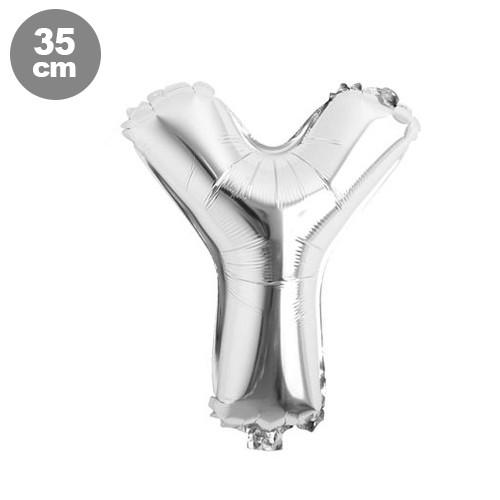 Y - Harf Folyo Balon Gümüş (35 cm)