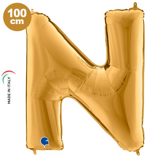 N - Harf Folyo Balon Gold (100 cm), fiyatı