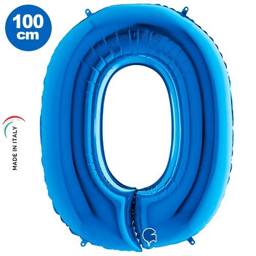 O - Harf Folyo Balon Mavi (100 cm)