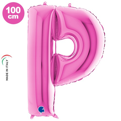P - Harf Folyo Balon Pembe (100 cm), fiyatı