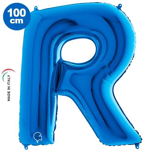 |R| Harf Folyo Balon Mavi (100 cm)