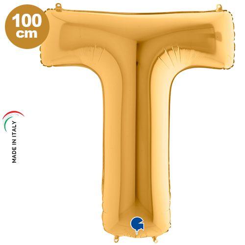 T - Harf Folyo Balon Gold (100 cm)