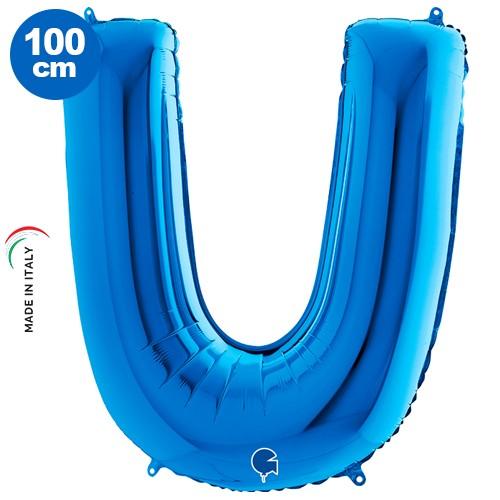 U - Harf Folyo Balon Mavi (100 cm), fiyatı