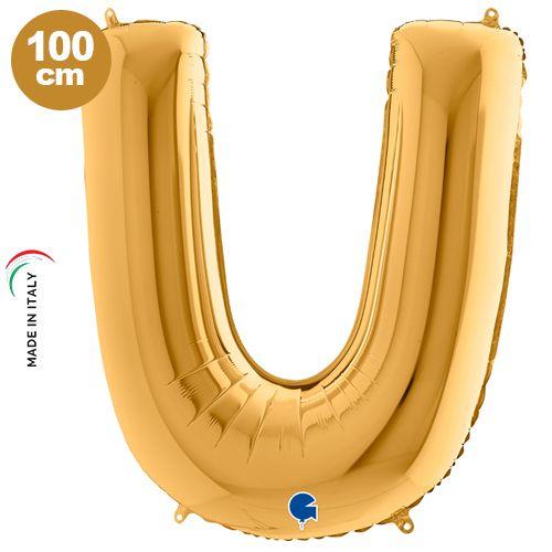 U - Harf Folyo Balon Gold (100 cm)