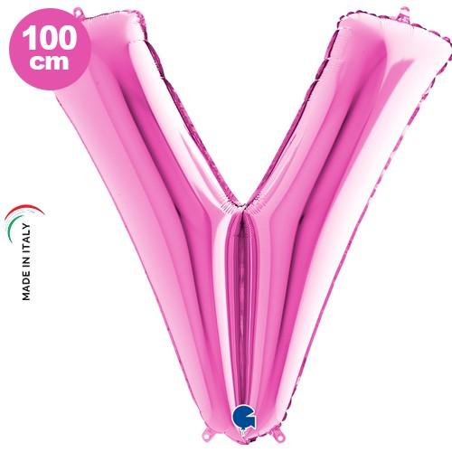 V - Harf Folyo Balon Pembe (100 cm), fiyatı