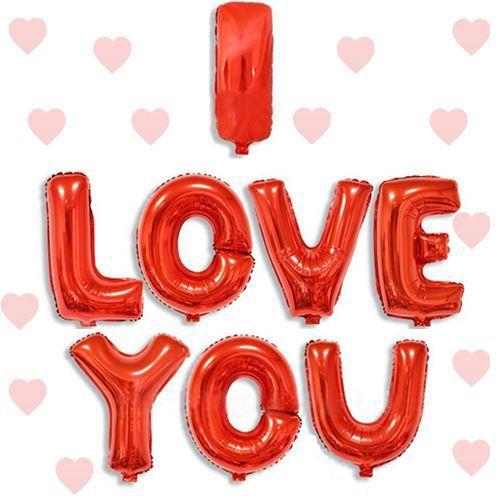 I LOVE YOU Folyo Balon Kırmızı (35 cm)