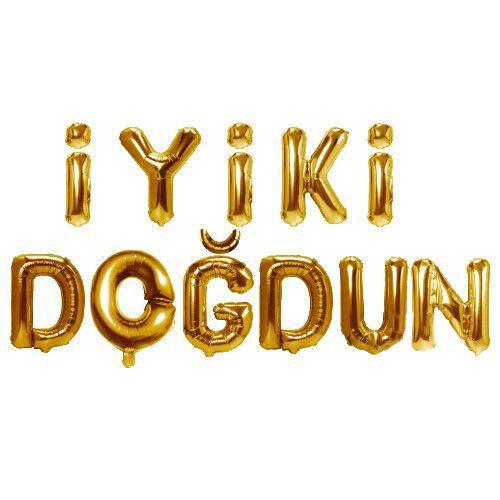 İyiki Doğdun Folyo Balon Gold (35 cm)