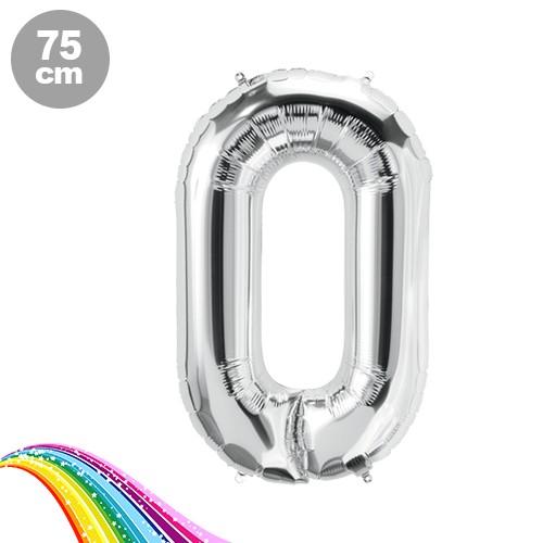 0 Sayı Folyo Balon Gümüş (75 cm), fiyatı