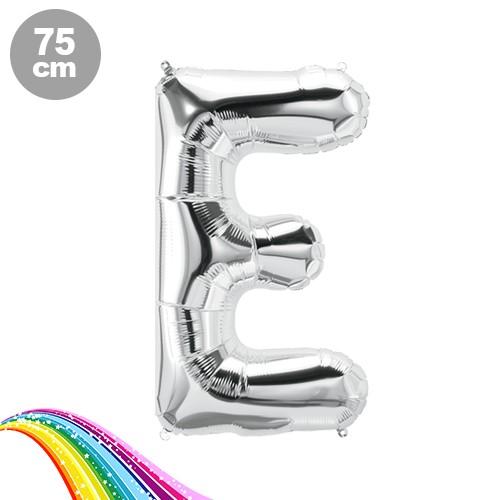 E - Harfi Folyo Balon Gümüş (75 cm)
