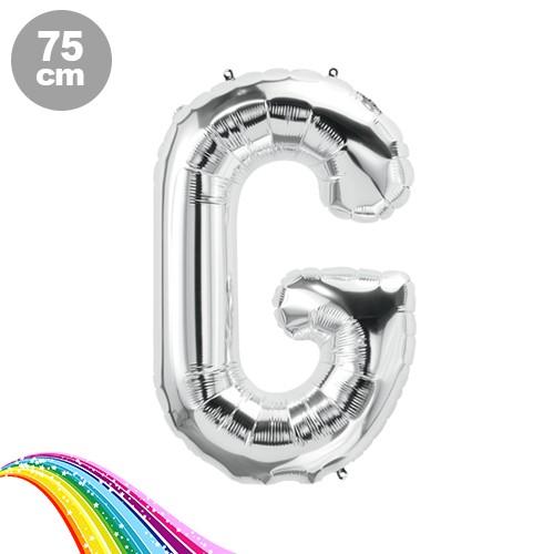 G - Harfi Folyo Balon Gümüş (75 cm)