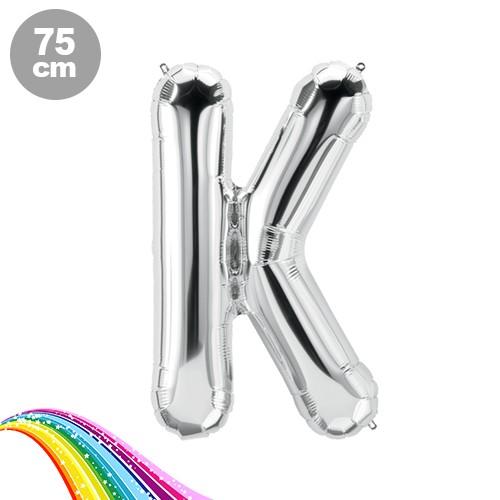 K - Harfi Folyo Balon Gümüş (75 cm)